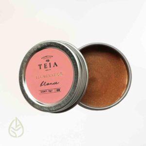 Iluminador bronce teia germina zero waste ecofriendly petfriendly maquillaje