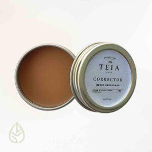 corrector medio bronceado teia germina zero waste ecofriendly petfriendly maquillaje