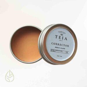 corrector medio claro teia germina zero waste ecofriendly petfriendly maquillaje